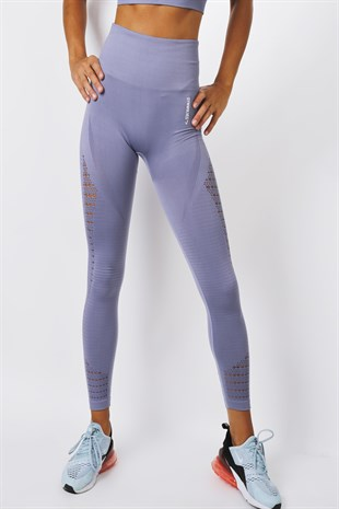 Gymwolves Dikişsiz Spor Tayt | Light Grey | Seamles Leggings / Motive Serisi