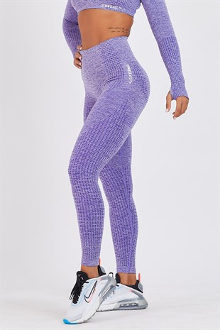 Gymwolves Dikişsiz Spor Tayt | Purble | Seamles Leggings | Activated Serisi
